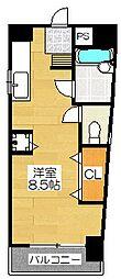 ゾンターク博多II[5階]の間取り
