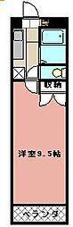 KMマンション八幡駅前III[915号室]の間取り