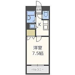 グランメールヤナセ[1階]の間取り