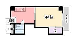 ディア夙川[406号室]の間取り