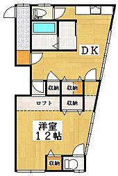 中島アパート2階Fの間取り画像