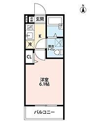 東京都足立区中川4丁目の賃貸アパートの間取り