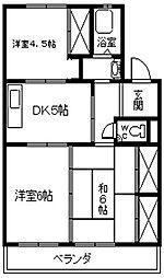 湫マンション[401号室]の間取り
