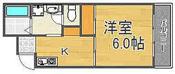 大阪府大阪市西淀川区竹島2丁目の賃貸マンションの間取り