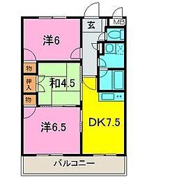 アメジスト東川口[1階]の間取り