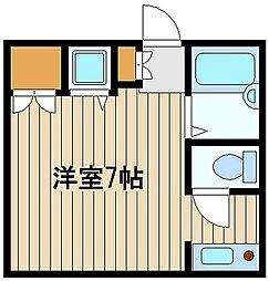 東京都練馬区西大泉1丁目の賃貸アパートの間取り