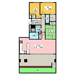 パークハウス楽園町[1階]の間取り