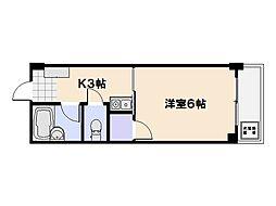 ビレッジ中央[104号室]の間取り