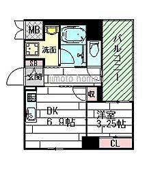 MCOURT江坂[3階]の間取り