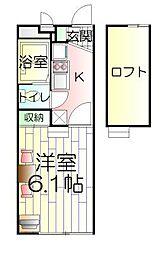 千葉県松戸市五香5の賃貸アパートの間取り