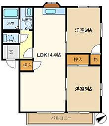 メゾンヨシコーC 101[1階]の間取り