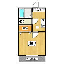 第61長栄エクセレントハイム[2階]の間取り