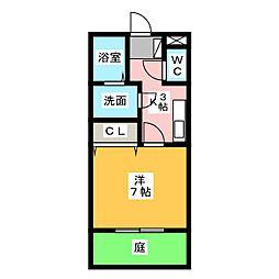 ヴィヴレ堀ノ内[1階]の間取り