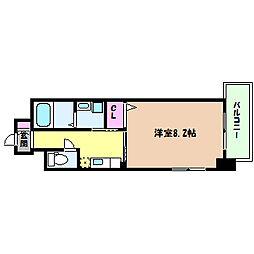 阪急神戸本線 六甲駅 徒歩10分の賃貸マンション 4階1Kの間取り