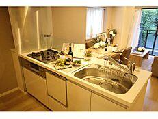 食洗機付き、浄水器一体型水栓付き