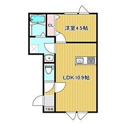 N's 1階1LDKの間取り