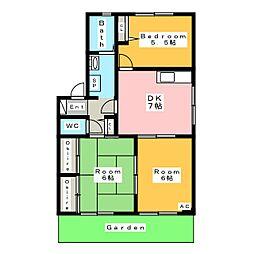 フォーレスいちこ B棟[1階]の間取り