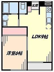 ピュアレボー[1階]の間取り