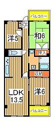 千葉県我孫子市柴崎台1丁目の賃貸マンションの間取り