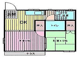 フィアテルコーポ[1階]の間取り