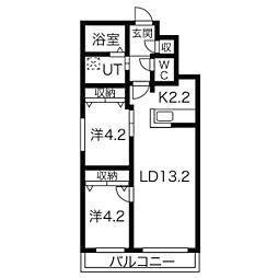 Mi Casa(ミ カーサ) 13[4階]の間取り