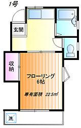 エトワール桜ヶ丘2[201号室]の間取り