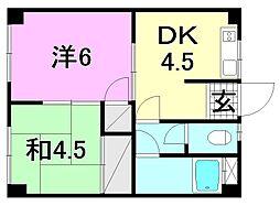 平岡ビル[301 号室号室]の間取り