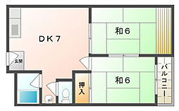 コーポ城垣[2階]の間取り