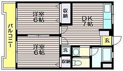ケーアイマンション[307号室]の間取り