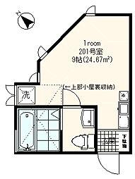 フォレスト4[2階]の間取り