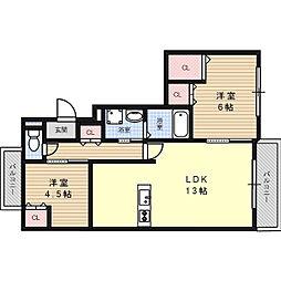 SHION BEREO[2階]の間取り