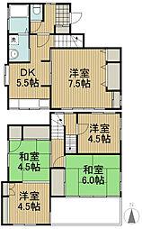 [一戸建] 東京都西東京市北原町2丁目 の賃貸【/】の間取り