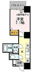 フィールドライズ日本橋 4階1Kの間取り