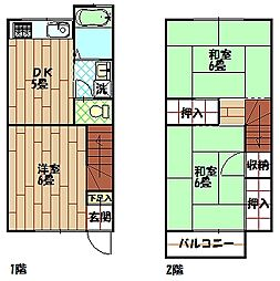 [テラスハウス] 神奈川県横須賀市久村 の賃貸【/】の間取り