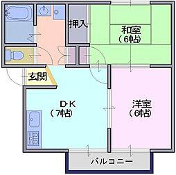 レジデンスボナール[1階]の間取り
