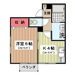 パセオ三田[201号室]の間取り