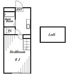 ベイシティ稲毛[2階]の間取り