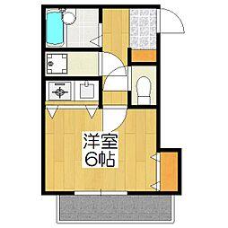 熊野道谷口マンション[102号室]の間取り