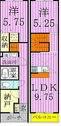 [タウンハウス] 千葉県松戸市松戸新田 の賃貸【/】の間取り