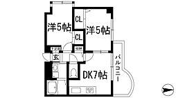 兵庫県宝塚市山本野里1丁目の賃貸マンションの間取り