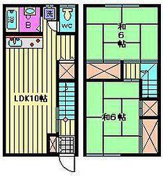 [テラスハウス] 埼玉県さいたま市南区大谷口 の賃貸【/】の間取り