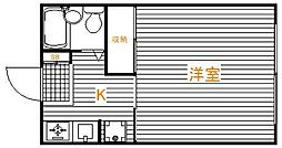 東京都足立区西新井本町3丁目の賃貸マンションの間取り