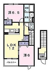 スモ-ル・ファウンテン・パ-ク[2階]の間取り