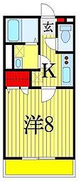 千葉県千葉市花見川区幕張町5丁目の賃貸アパートの間取り