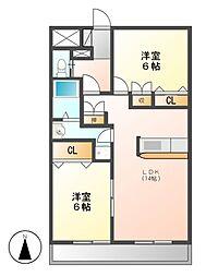 愛知県名古屋市名東区引山1丁目の賃貸マンションの間取り