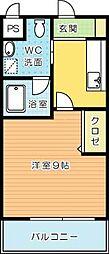 ギャラン吉野町[608号室]の間取り