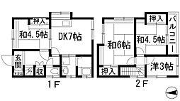 [一戸建] 兵庫県西宮市丸橋町 の賃貸【/】の間取り