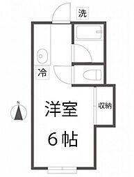 コーポレイバン[2階]の間取り