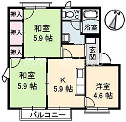 屋島フレグランス A棟[1階]の間取り