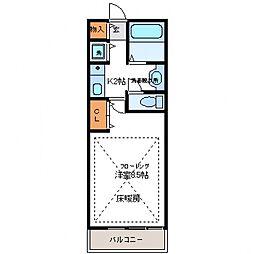 所沢メゾン6号館[102号室号室]の間取り